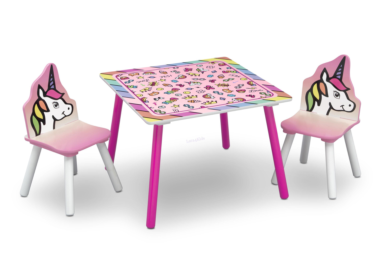 54aa33e3f538 Detský stôl so stoličkami Jednorožec