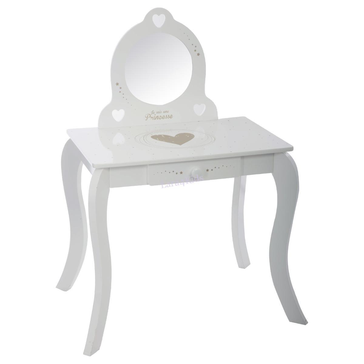 Fésülködőasztal és szék Atmosphera Demoiselle Blanche